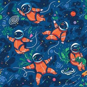 Space Invaders in orange