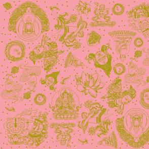 Pink Leaf Buddha