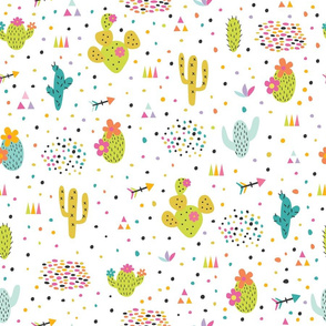 cute cacti and arrows