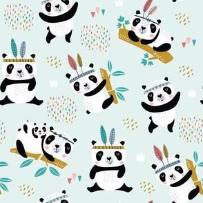 funny tribal pandas