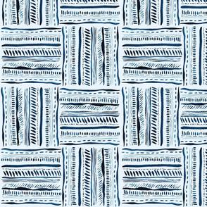 Boho stripes in blue