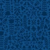 Classic Blue Folk Garden