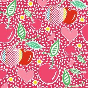 "6"" Cherries with Sprinkles in Bright Pink"