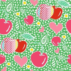 "6"" Cherries with Sprinkles in Green"