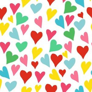 """6"""" Colorful Hearts"""
