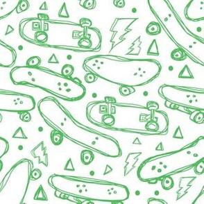 "6"" Green Skateboards"