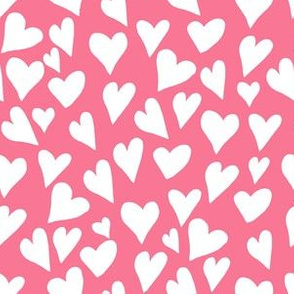 """6"""" Pink and White Hearts"""
