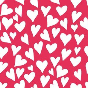 """6"""" Dark Pink Hearts"""
