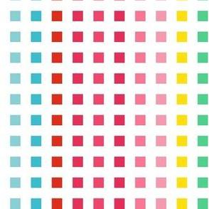 "6"" Rainbow Squares"
