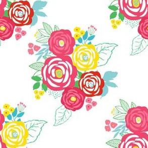 "6"" Retro Summer Bouquet"