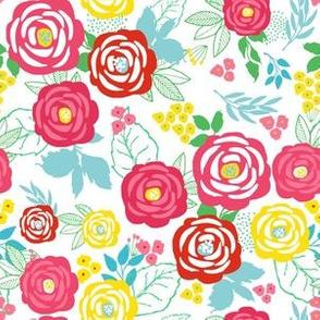 "6"" Retro Summer Florals"