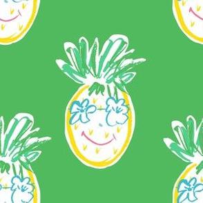 "6"" Summer Pineapple Green"