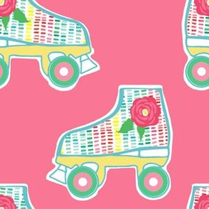 "6"" Summer Retro Skates in Pink"