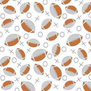 football half gray on white