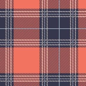 Orange Purple Plaid V01