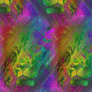 TROPICAL LION FELINE SEAMLESS PSMGE