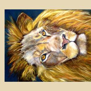 fat quarter panel lion chalk pastel original 4 panels fat quarter PSMGE