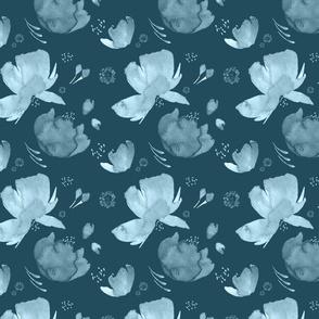 Blue Blooms |Spring Fields|Renee Davis