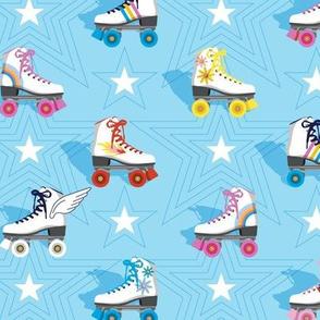 Good Times* (Light Sky)    roller skates skating disco stars rainbow heart 70s 80s pastel