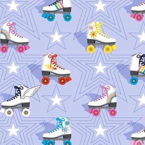Good Times* (Ultraviolet)    roller skates skating disco stars rainbow heart 70s 80s pastel
