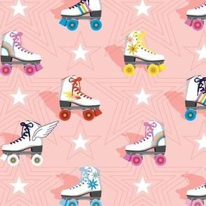 Good Times* (Light Mona)    roller skates skating disco stars rainbow heart 70s 80s pastel living coral