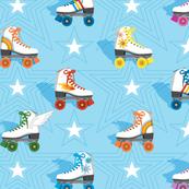 Good Times* (Multicolored Light Sky)    roller skates skating disco stars rainbow heart 70s 80s