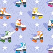 Good Times* (Multicolored Ultraviolet)    roller skates skating disco stars rainbow heart 70s 80s pastel