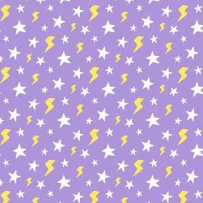 Stars and Lightning Bolts, Light Purple