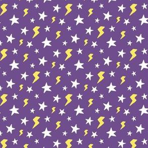 Stars and Lightning Bolts, Dark Purple