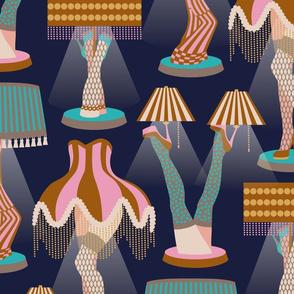 Kitschi leg lamps / Jumbo scale / Wallpaper