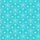 Shining Star* (Television Blue) || stars geometric superstar disco 70s 80s pop art aqua turquoise