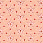 Lucky Star* (Peach Halves) || stars superstar 70s 80s pop art pastel living coral