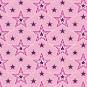 Lucky Star* (Pink Cow) || stars superstar 70s 80s pop art pastel purple