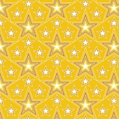 Lucky Star* (Velvet Banana) || stars superstar 70s 80s pop art yellow gold mustard