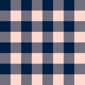 """(1"""" scale) pink and navy plaid - firefighter wholecloth coordinate C20BS"""