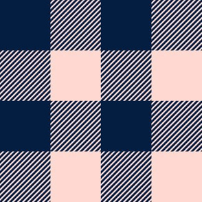 """(2"""" scale) pink and navy plaid - firefighter wholecloth coordinate C20BS"""