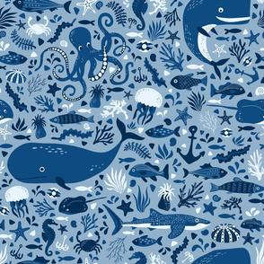 great blue ocean
