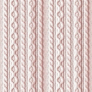 knit cable pink