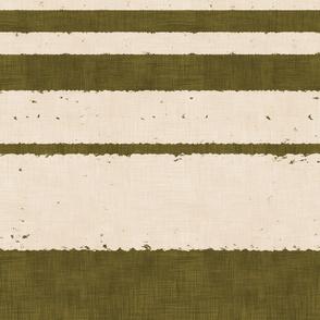 Retro Stripes - on Olive (Large Scale)