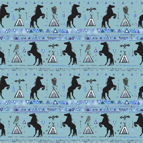 Black Horses, Crows, and Hawks Tribal Border