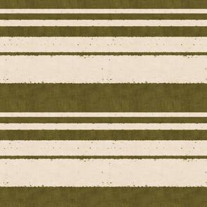 retro stripes on olive (small scale)