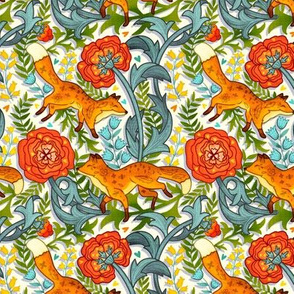 Art Nouveau Foxes (Small Version)