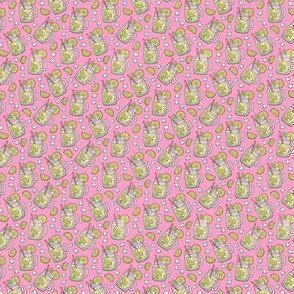 Lemonade on Pink Tiny Small 0,75 inch