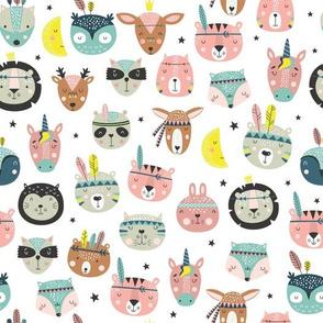boho animal faces