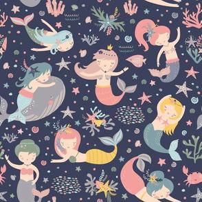 Cute mermaids