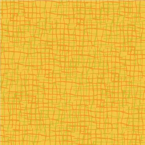 Easter basket on yellow