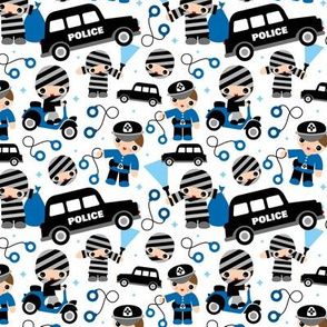 Thieves cops and robbers police theme
