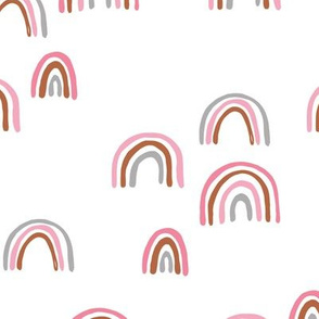 Rainbow sky and minimal dreamy retro night wish autumn summer nursery girls white pink