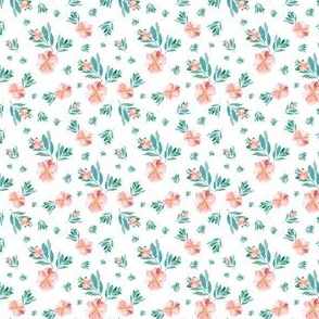 "4"" Summer Peach Florals"