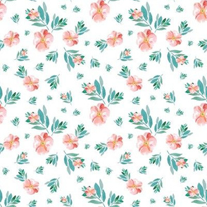 "8"" Summer Peach Florals"